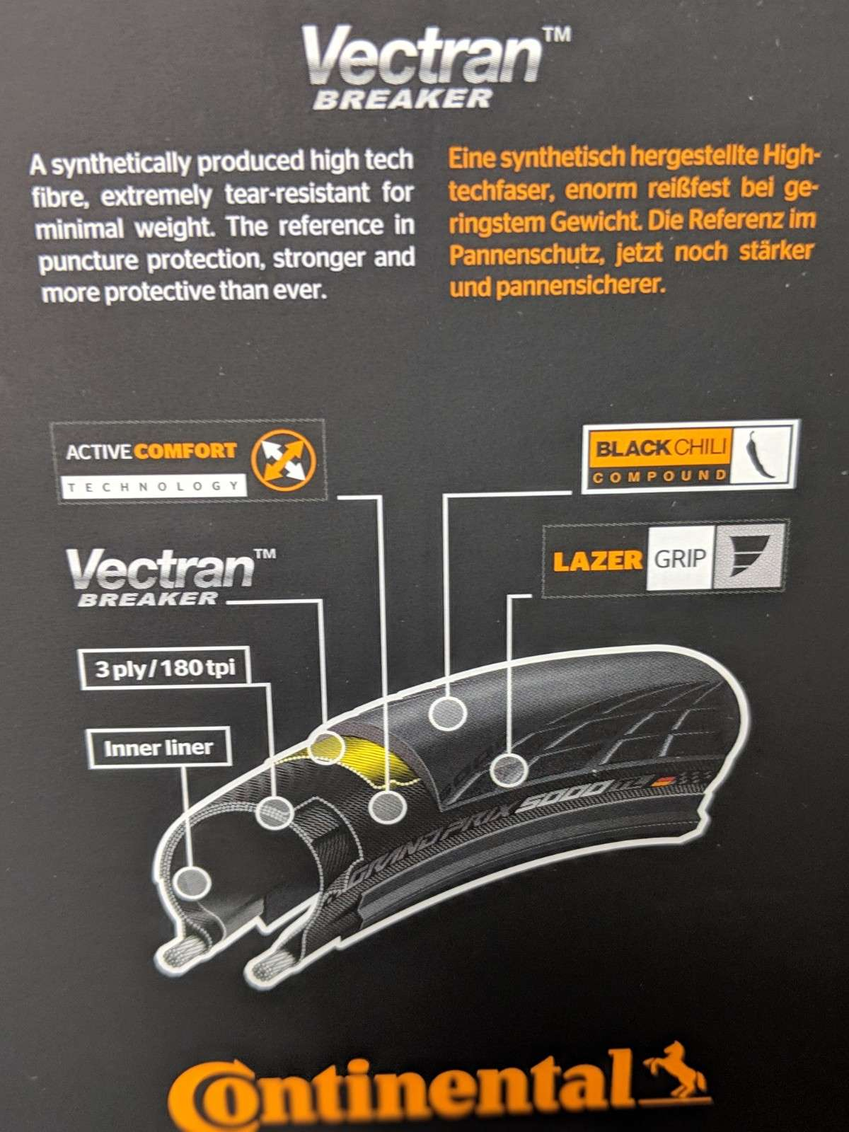 packaging for Continental GP 5000