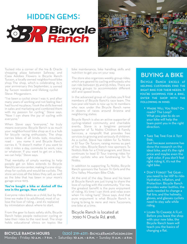 Article on Bicycle Ranch