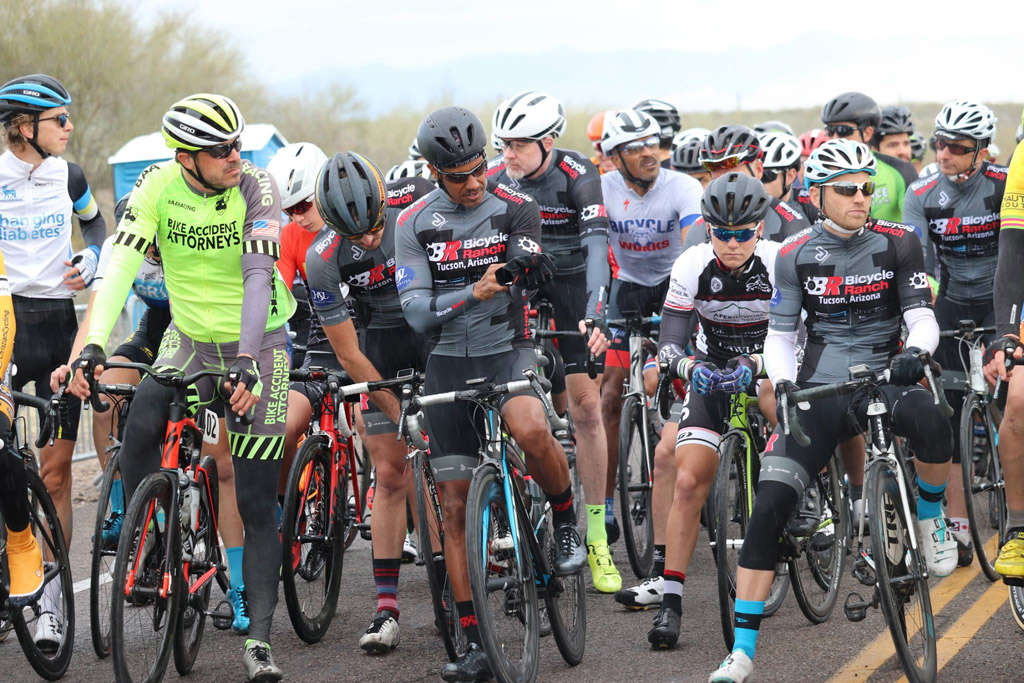 riders at start line