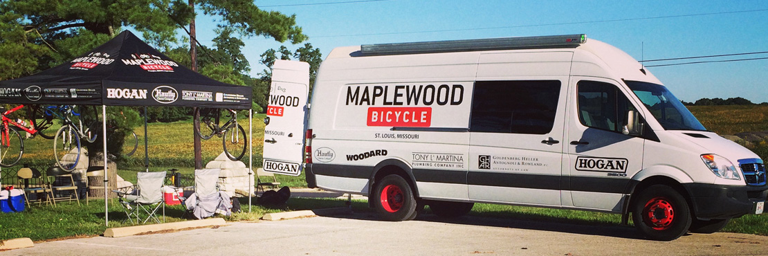 Maplewood team at Cyclocross race