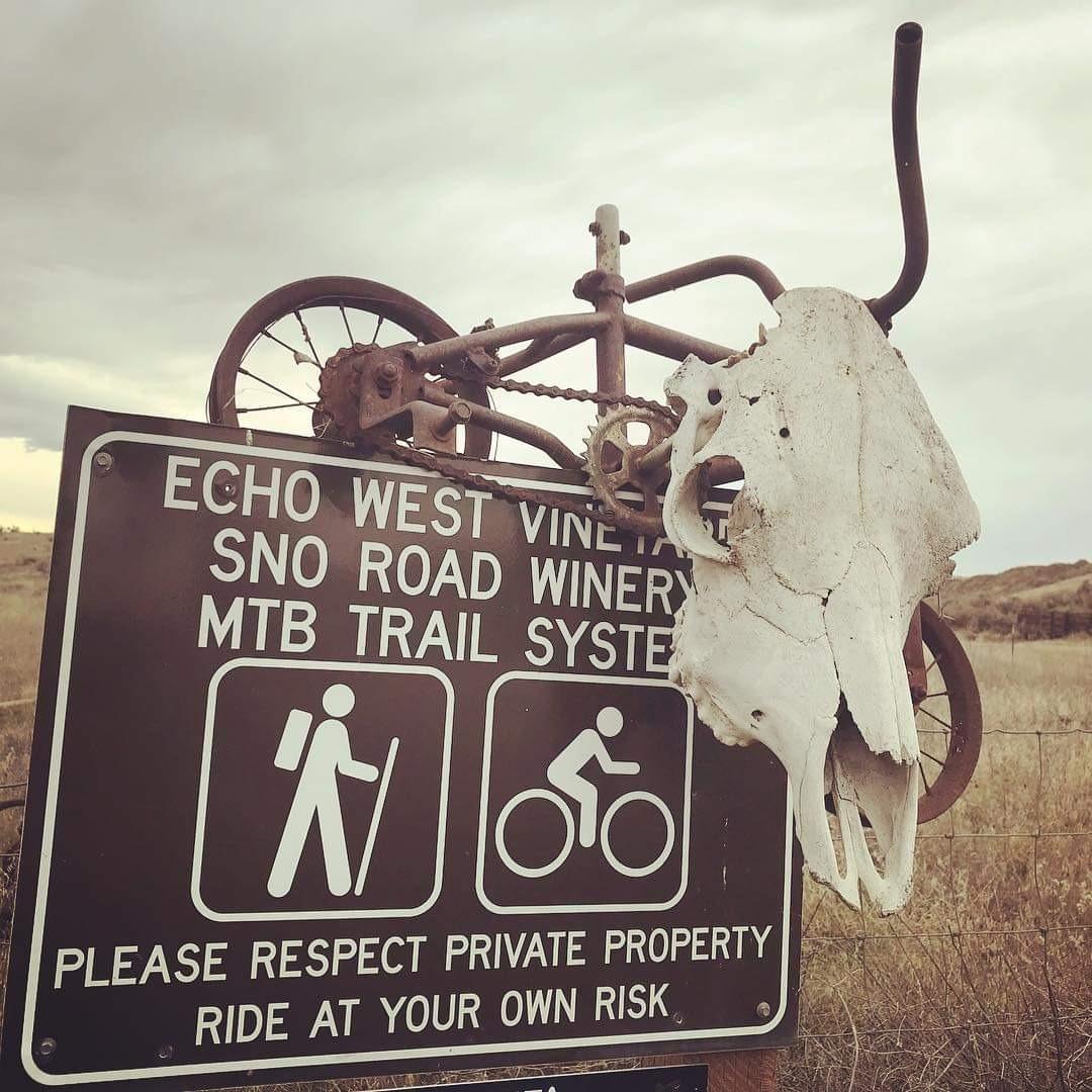 Echo West trail sign
