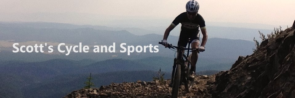 Scott's Cycle & Sports and image of mountain biker