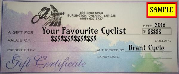 Brant Cycle Gift Card