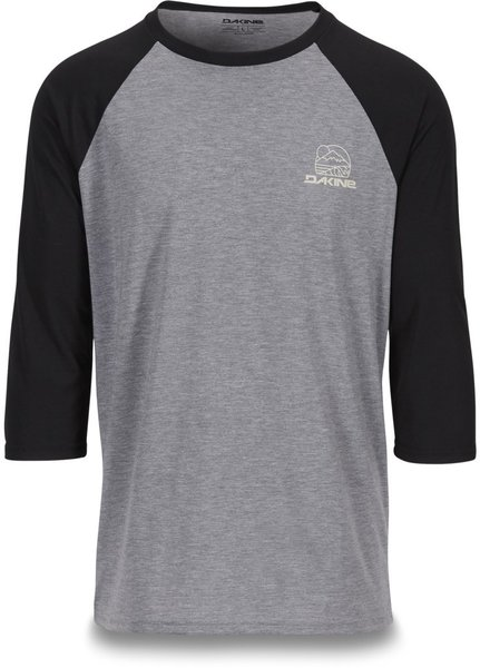 Dakine Well Rounded 3/4 Raglan Tech T Color: Grey/Black