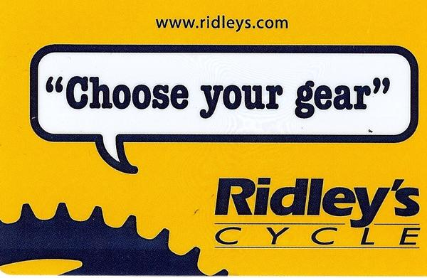 Ridley's Cycle Gift Card