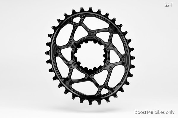 Absolute Black Oval Boost148 Traction Chainring for SRAM