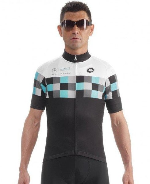Assos SS. Works Team Evo 8 Jersey Color: Mercedes