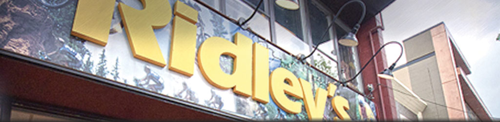 Ridley's Storefront Sign