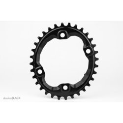 Absolute Black Oval Traction Chainring for Shimano XT M8000 / SLX M7000