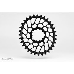 Absolute Black Oval BB30 Traction Chainring for SRAM Cranks