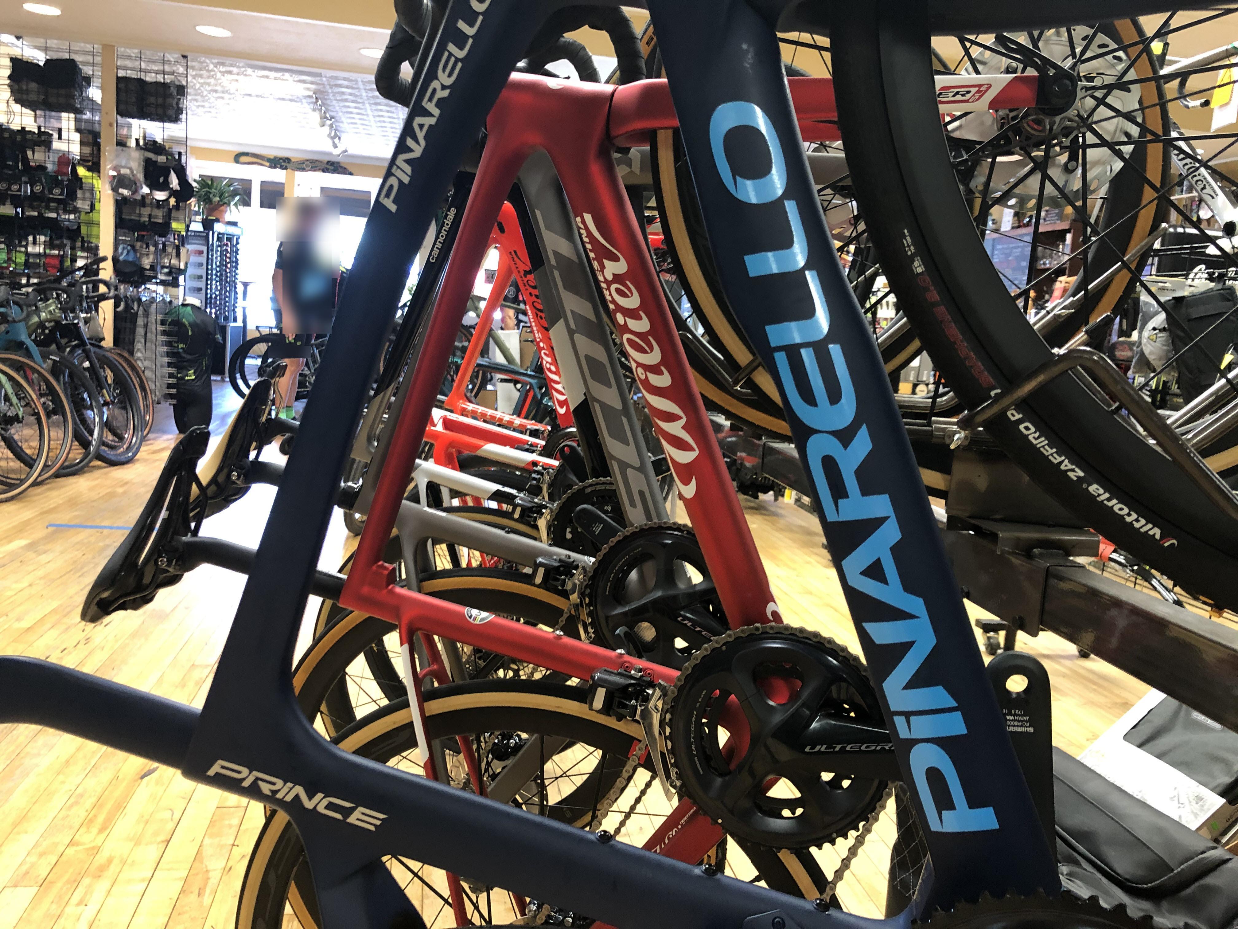 Bike brands on display