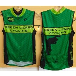 Pearl Izumi Green Lizard Custom Women's Select Sleeveless Jersey