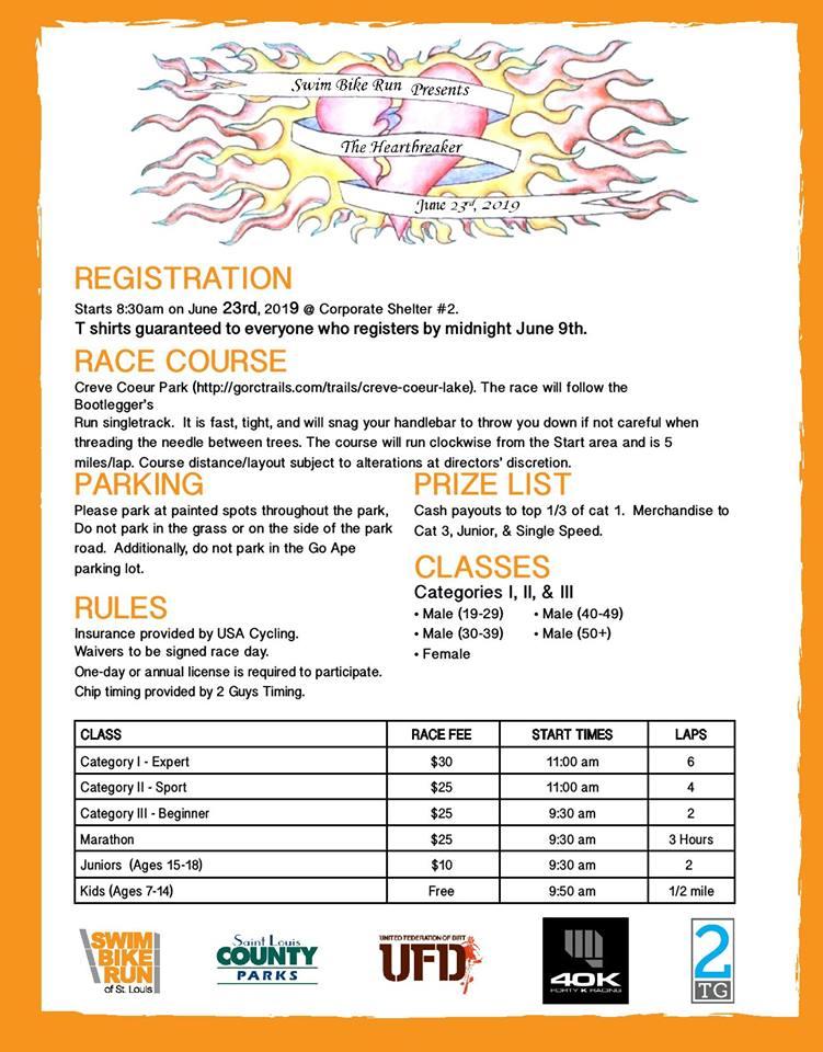 HEARTBREAKER Registration NOW OPEN!