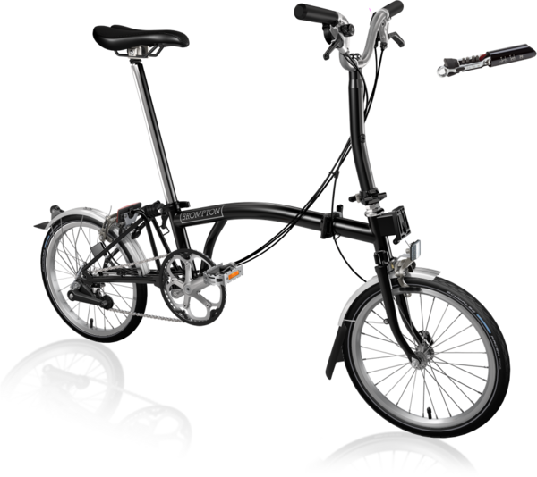 Brompton M6L Black/Black with ToolKit