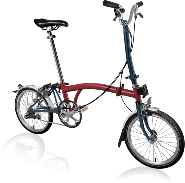 Brompton H3LA House Red/Tempest Blue