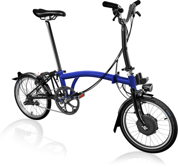 Brompton 6 Speed Electric Blue Lacquer/Black