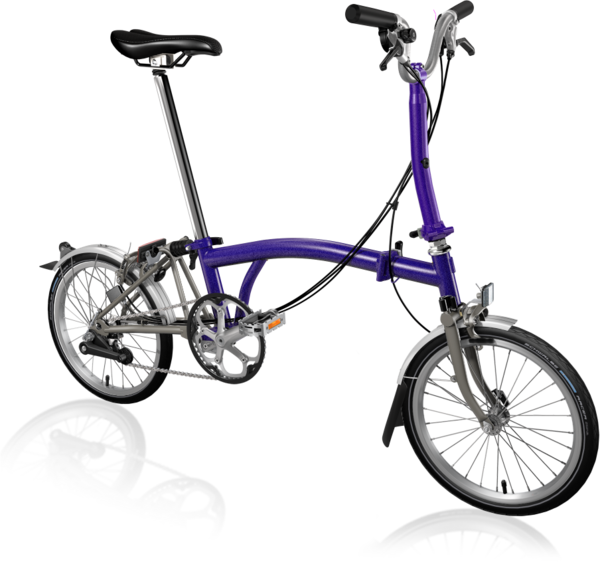 Brompton M6L Superlight Purple Metallic/Titanium