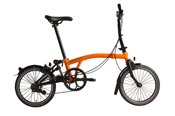 Brompton BLACK EDITION H6LA ORANGE/BLACK