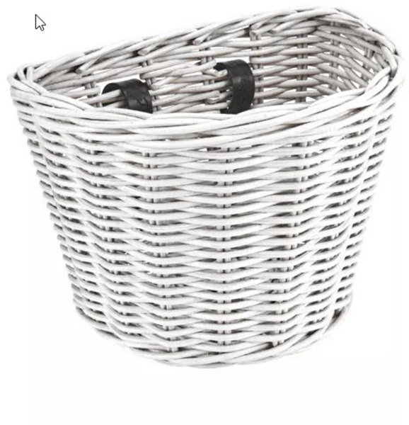 Electra Basket Electra Rattan Small White Front
