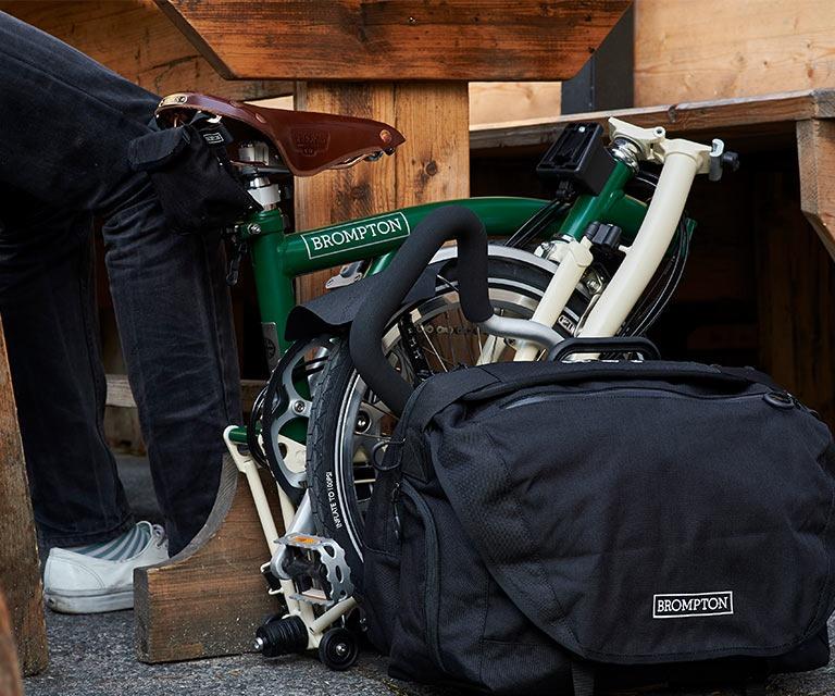 A folded folding bike