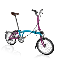 Brompton M3LA Lagoon Blue/Berry Crush