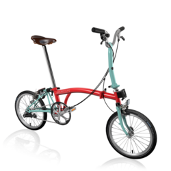 Brompton M3EA Red/Turkish Green