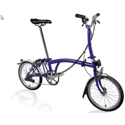 Brompton M6L Purple Metallic/Purple Metallic