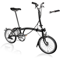 Brompton H6L Black/Black with ToolKit