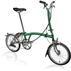 Brompton H6L Superlight Racing Green/Titanium