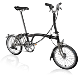 Brompton M6LA Superlight Black/Titanium