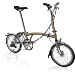 Brompton M6L Superlight Raw Lacquer/Titanium