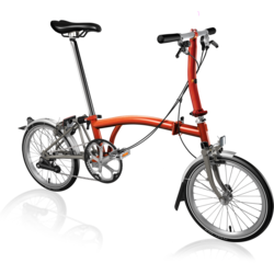 Brompton S2L SuperLight Flame Lacquer/Titanium