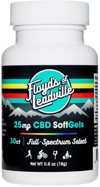 Floyd's Of Leadville Floyd's of Leadville CBD Softgel: Full Spectrum, 25mg, Qty 30