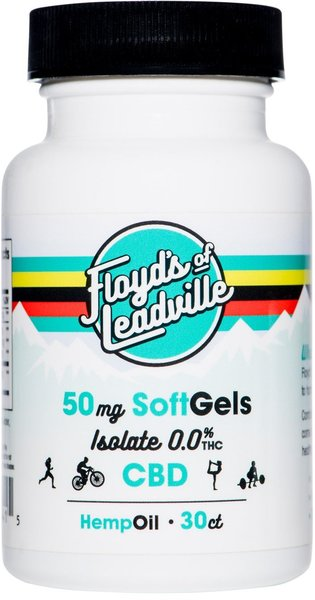 Floyd's Of Leadville Floyd's of Leadville CBD Softgel: Isolate (THC Free) 50mg, Qty 30