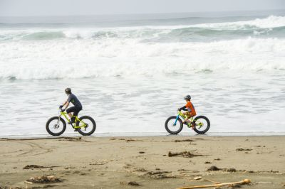 fat biking on the beach