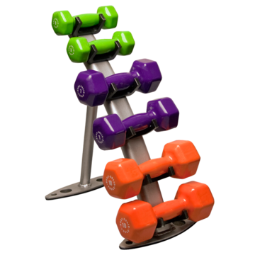 Body-Solid Vinyl Dumbbell Rack