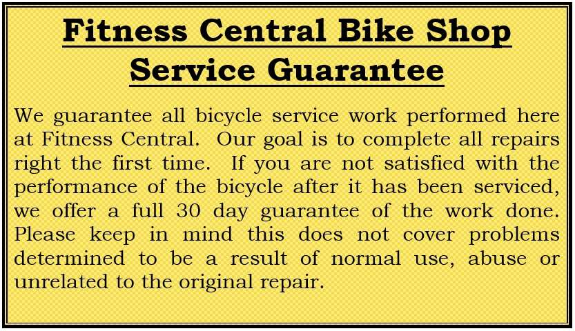 Fitness Central Service Guarantee