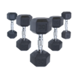 Cap Barbell Rubber Coated Dumbbells w/ Ergonomic Handle (priced per single dumbbell)