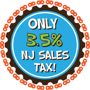 Only 3.5% tax at Zippy's Bike Shop!