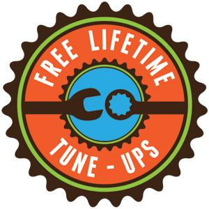 Free lifetime tuneups with bikes from Zippy's!