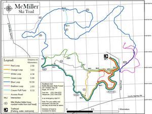 McMiller Ski Trail Map