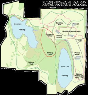 Nashotah Park trail map