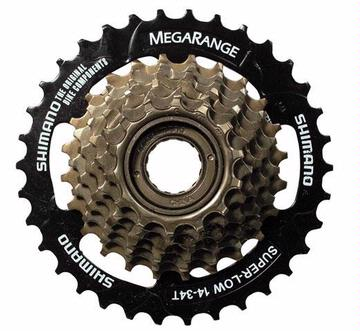 Shimano 14-34 Thread-on 7-speed Freewheel Megarange
