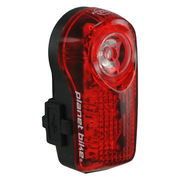 Planet Bike SuperFlash LED Red Tail Light USB Rechargeable