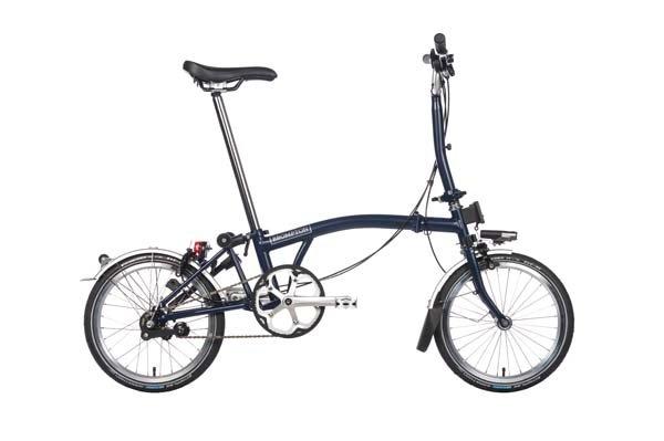 Brompton M3L Blue/Blue Folding Bicycles