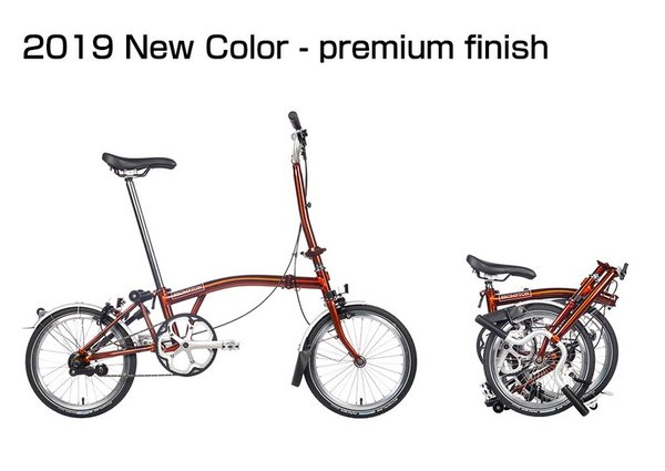 Brompton M6LA Flame Lacquer/Flame Lacquer Folding Bicycles