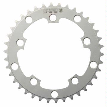 "Origin8 110 / 130mm BCD Chainring 3/32"" Alloy Silver"