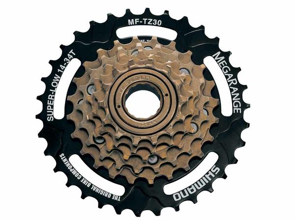 "Shimano 14-34 Thread-on 6-speed Freewheel ""Megarange"""