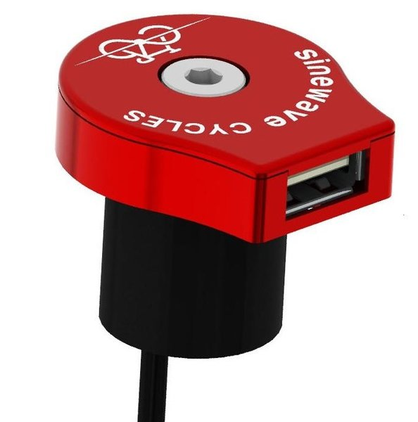 Sinewave Cycles Reactor Dynamo USB Charger RED