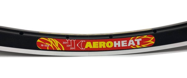 "Velocity Aeroheat/Dyad 26"" (559) Rim 36 Hole Black"